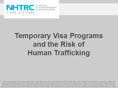 Temporary Visa Programs