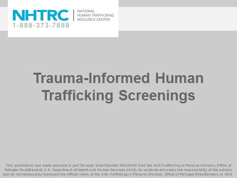 law enforcement national human trafficking resource center