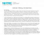 Child Labor Trafficking in the United States