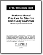 Evidenced Based Practices for Effective Community Coalitions