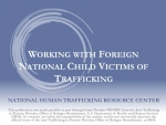 Foreign National Minor Victims