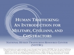 Human Trafficking Intro to Military